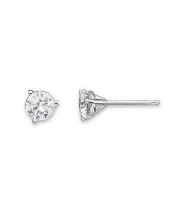 Bloomingdale's - Certified Diamond Stud Earrings in 18K White Gold, 0.50 ct. t.w.- 100% Exclusive