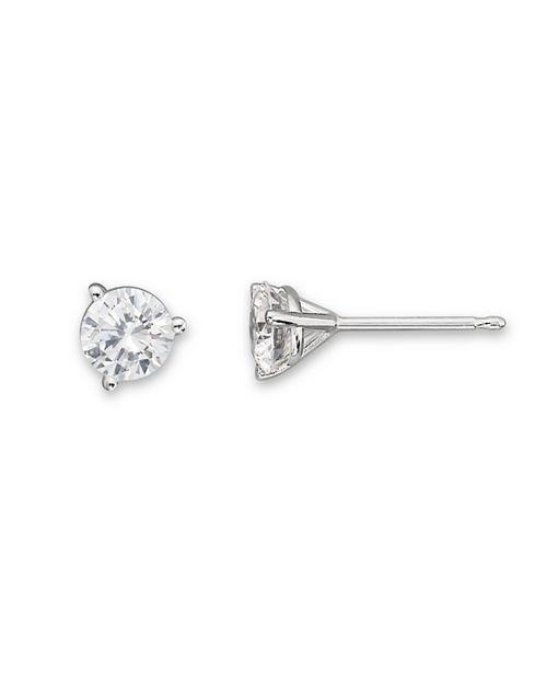 Bloomingdale S Certified Diamond Stud Earrings In 18k White Gold 50 2 0 Ct