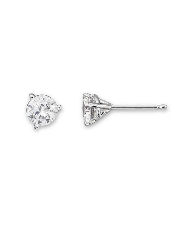 Bloomingdale's CERTIFIED DIAMOND STUD EARRINGS IN 18K WHITE GOLD, 2.0 CT. T.W. - 100% EXCLUSIVE