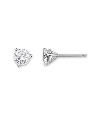 Certified Diamond Stud Earrings in 18K White Gold, .50 ct. t.w. - 100% Exclusive