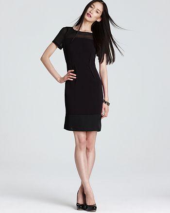 Dknyc Short Sleeve Shift Dress With Chiffon Bloomingdales