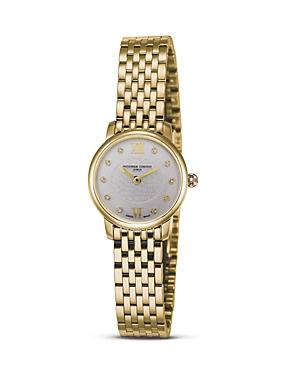 Frederique Constant 18K Gold Plated Stainless Steel Slim Line Quartz Watch, 25mm