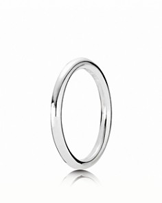 PANDORA Sterling Silver Smooth Round Ring - Bloomingdale's_0