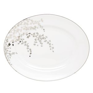 kate spade new york Gardner Street Platinum Oval Platter