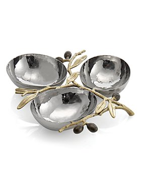 Michael Aram - Olive Branch Triple Compartment Dish