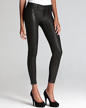 J Brand - Pants - Leather Super Skinny in Noir