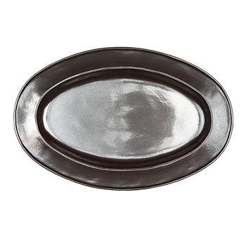 "Juliska - Pewter Stoneware 15"" Oval Platter"