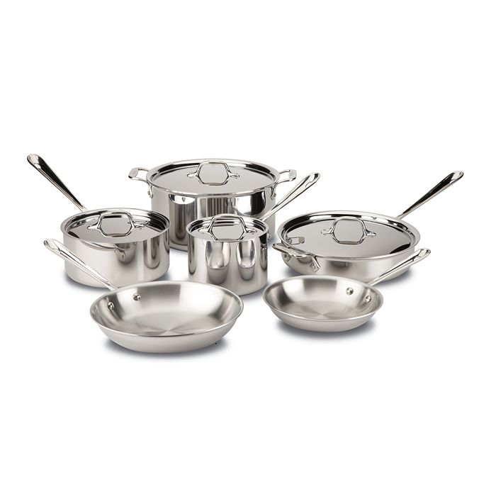 All-Clad - Stainless Steel 10-Piece Set