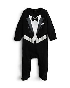 Sara Kety - Boys' Black Tie Footie - Baby