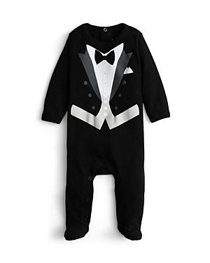 Sara Kety Boys Black Tie Footie  Baby