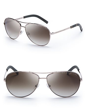 721cb44062e MARC JACOBS MARC BY Women s Side Stripe Aviator Sunglasses ...
