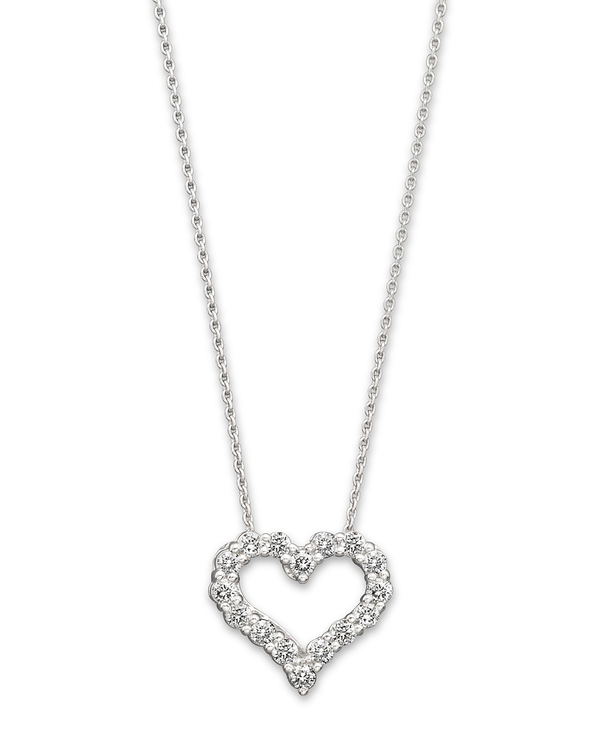 Diamond heart pendant necklace in 14k white gold 25 ct tw pdpimgshortdescription pdpimgshortdescription pdpimgshortdescription aloadofball Choice Image