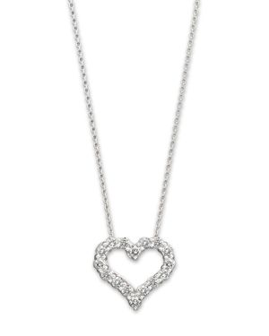 Diamond Heart Pendant Necklace in 14K White Gold, .25 ct. t.w.