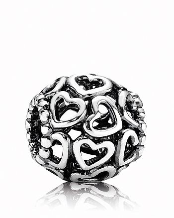Pandora - Moments Collection Sterling Silver Open Your Heart Charm