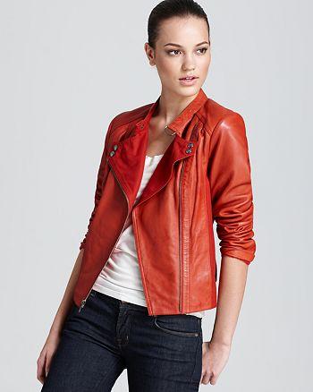 Marc New York - Asymmetric Moto Jacket with Cotton Canvas
