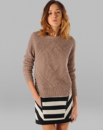 $Maje Sweater - Aero Deconstructed Side Panels - Bloomingdale's