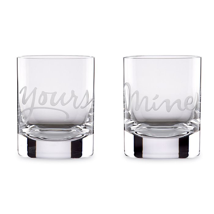 kate spade new york - Two of a Kind Mine & Yours Double Old-Fashioned Glasses, Set of 2