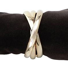 L'Objet Napkin Jewels, Gold Triple-Ring, Set of 4 - Bloomingdale's Registry_0