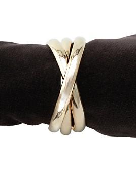 L'Objet - L'Objet Napki Jewels, Gold Triple-Ring, Set of 4