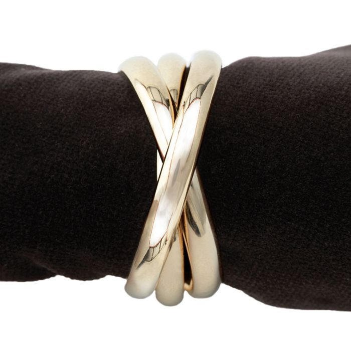 L'Objet - Napki Jewels, Gold Triple-Ring, Set of 4