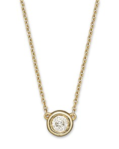 Bloomingdale's - Diamond Solitaire Pendant Necklace in 14K Yellow Gold, .25 ct. t.w. - 100% Exclusive