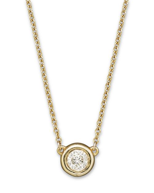 Bloomingdale's - Diamond Solitaire Pendant Necklace in 14K Yellow Gold, .25 ct. t.w.- 100% Exclusive