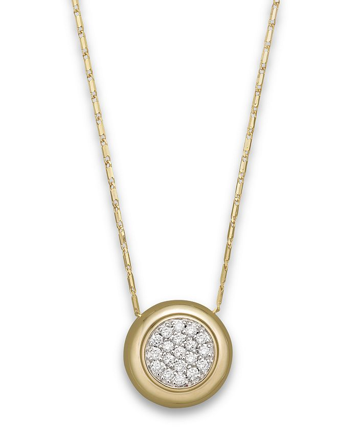 Bloomingdale's - Diamond Pavé Pendant Necklace in 14K Yellow Gold, .25 ct. t.w. - 100% Exclusive