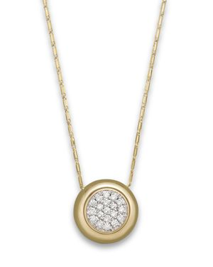 Diamond Pave Pendant Necklace in 14K Yellow Gold, .25 ct. t.w. - 100% Exclusive