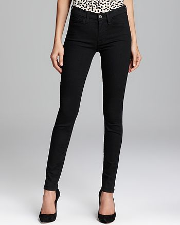 7 For All Mankind - Jeans - The Skinny Slim Illusion in Elasticity Black