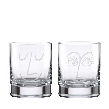 kate spade new york - Two of a Kind Bar Belles Double Old-Fashioned Glasses, Set of 2