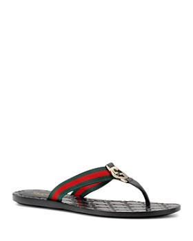 Gucci - Women's GG Thong Sandals