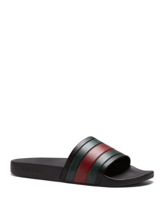 22c4ae2a8df7a1 Gucci Men s Rubber Slide Sandals