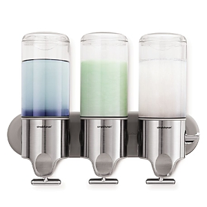 simplehuman Triple Wall-Mount Pump Dispenser