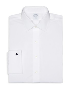 c514bc808e5d Brooks Brothers - Solid Broadcloth Non-Iron French Cuff Dress Shirt - Regent  Fit