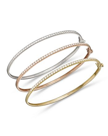 Bloomingdale's - Diamond Bangle in 14K Gold, .40 ct. t.w. - 100% Exclusive