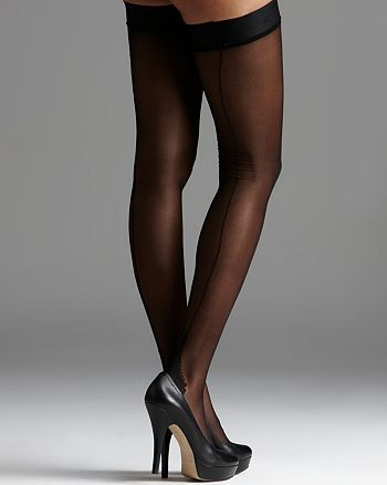 L'Agent by Agent Provocateur - Seam & Heel Hold Up Stockings