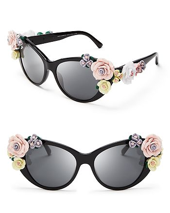 Dolce&Gabbana - Women's Oversized Floral Cat Eye Sunglasses