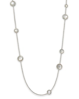 IPPOLITA - IPPOLITA Sterling Silver Wonderland Multi-Round Stone Necklace in Mother-of-Pearl Doublet, 40""