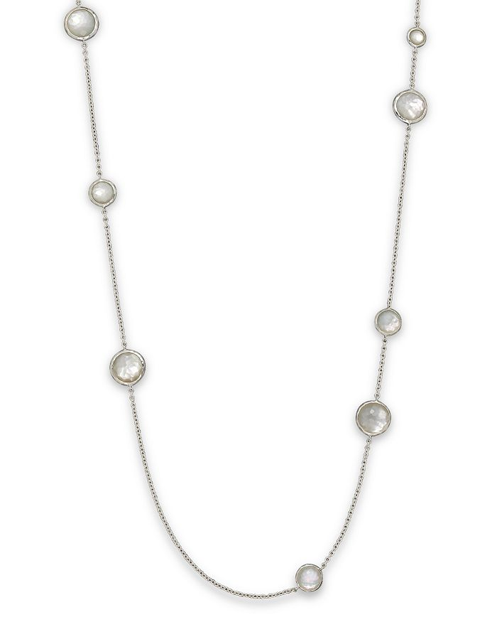 Ippolita STERLING SILVER WONDERLAND MULTI-ROUND STONE NECKLACE IN MOTHER-OF-PEARL DOUBLET, 40