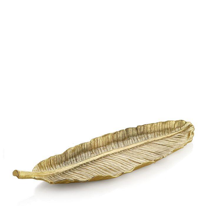 Michael Aram - Michael Aram Banana Leaf Large Gold Platter