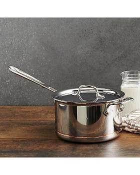 All-Clad - Copper Core 4 Quart Covered Sauce Pan