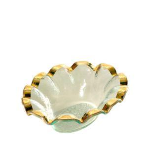Annieglass Ruffle Dip Bowl