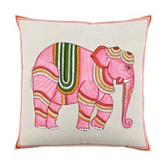 """JR by John Robshaw Pink Elephant Decorative Pillow, 20"""" x 20"""" - Bloomingdale's_0"""