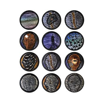 Bernardaud - L'Art de la Table The Boundless Sea by David Lynch Coupe Plates, Set of 12
