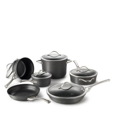 Contemporary Nonstick 11-Piece Cookware Set