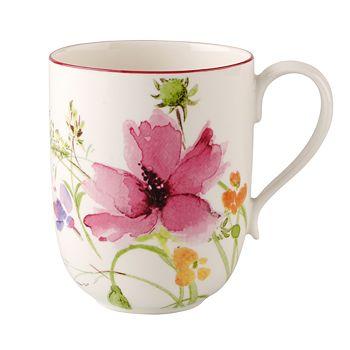 "Villeroy & Boch - ""Marisfleur"" Latte Macchiato Mug"