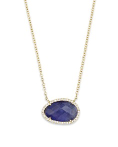 "Meira T 14K Yellow Gold Small Tanzanite and Diamond Necklace, 16"" - Bloomingdale's_0"