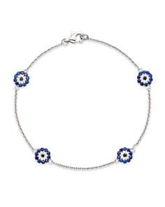 Evil eye jewelry bloomingdales diamond and sapphire evil eye station bracelet in 14k white gold bloomingdales0 aloadofball Gallery