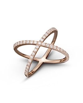 Bloomingdale's - Diamond X Band in 14K Rose Gold, .40 ct. t.w.- 100% Exclusive