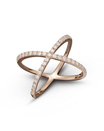 Bloomingdale's - Diamond X Band in 14K Rose Gold, .40 ct. t.w. - 100% Exclusive